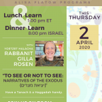 Special Pesach Shiur with Rabbanit Gilla Rosen